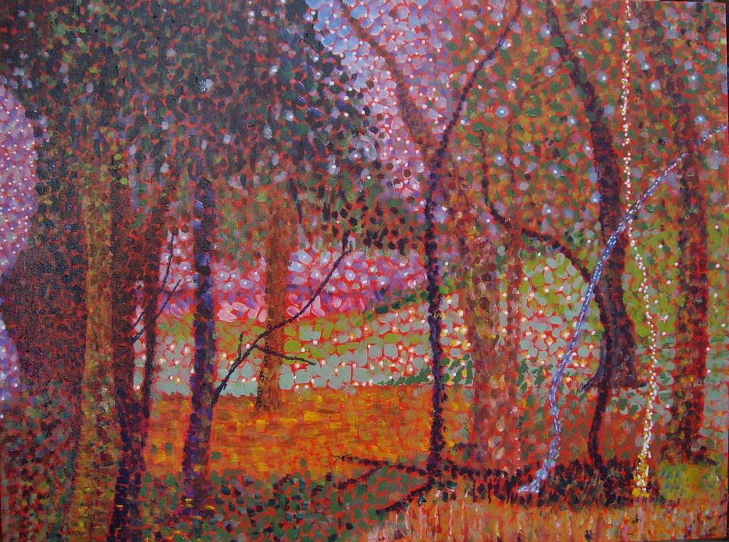 Gum trees - acrylic painting