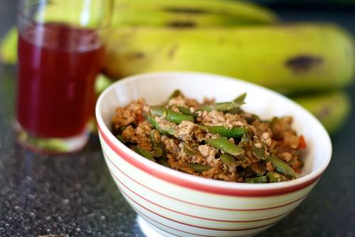 Ginisang bitsuelas (saute?ed green beans)