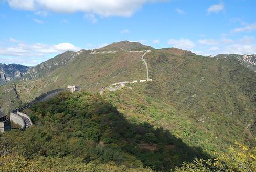 Panoramablick chinesische Mauer
