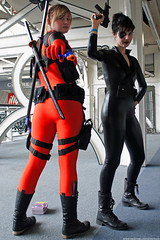 Kapow! Comic Con : Cosplay - Lady Deadpool & Black Widow by Craig Grobler