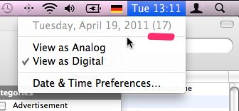 week numbers in MacOS X Menubar Clock
