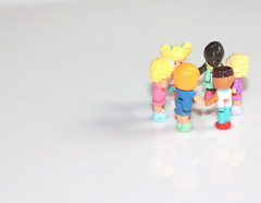 We are the children of the world... (las - initially (Lori Semprevio)) Tags: friends people circle toys friendship humanity human holdinghands ethnicity acceptance littledolls pollypockets smalltoys ourdailychallenge wearethechildrenoftheworld