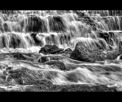 The Waterfall (Imraaanz(busy for a few days)) Tags: water daylight blackwhite waterfall flowing