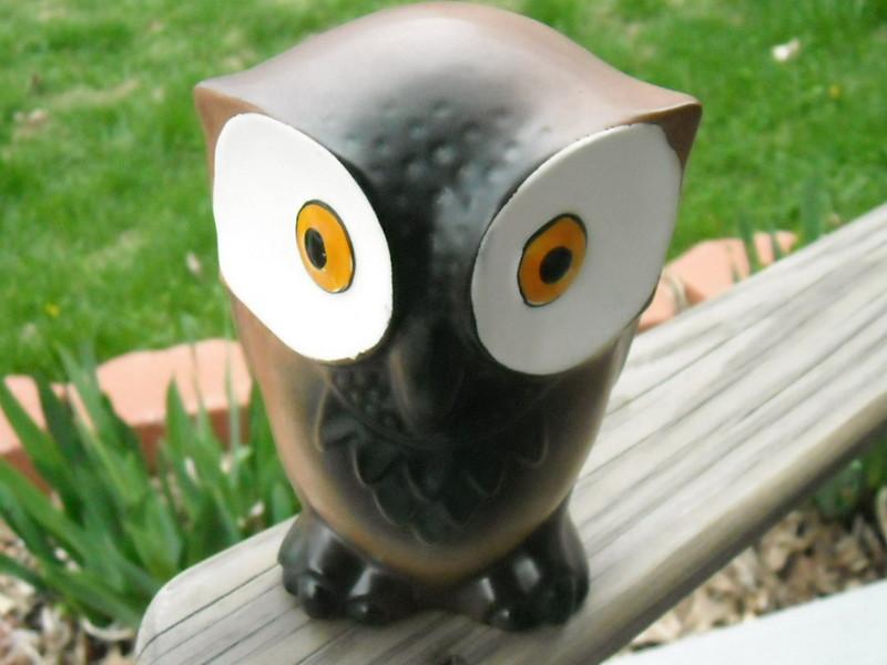 Vintage Hoot Owl Bank