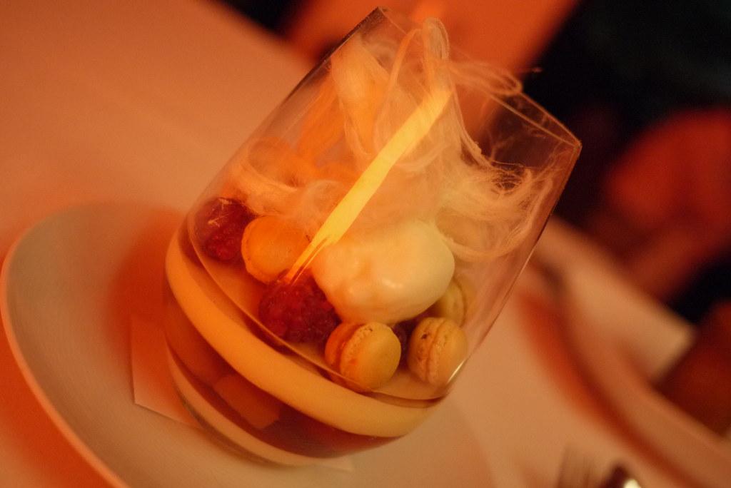 Madame pompadour - white peach curd, peach and rosé jelly, peach ...