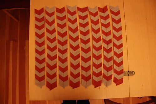 Chevron Pillow Top: Step 10