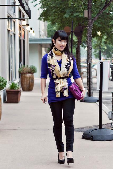 express purple tunic pearlbees begonia scarf j. brand black skinny jeans aldo black patent pumps rebecca minkoff mac clutch magenta michael kors rose gold watch mk5430