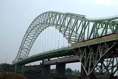 Silver Jubilee Bridge (McCann Photography) Tags: uk bridge england canal waterfront cheshire mersey widnes silverjubileebridge