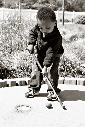 golfer b&w