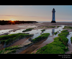 Sunset at Perch Rock (H4RSX) Tags: seascape reflections dusk northwales newbrightonlighthouse perchrock