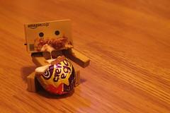 Danbo cream egg (Jody Walmsley) Tags: easter chocolate egg cream cadburys danbo revoltech danboard