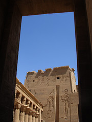 Temple Approach, Philae (wanderwoman1776) Tags: temple egypt philae isis ancientegypt nilecruise best2011