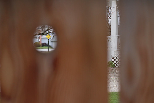 Through the knothole.jpg by Elli :-)