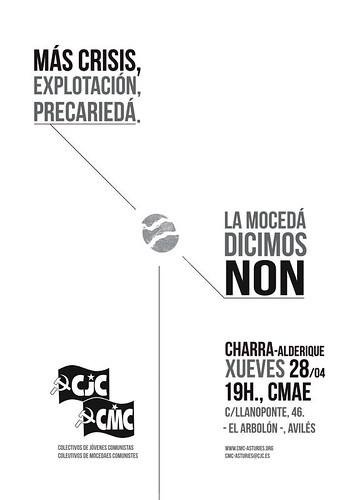 CJC/CMC  ¿Más crisis, recortes y explotación? La juventud decimos no. Charla-Debate en Avilés 5654635485_31fd25d49f