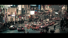 A Timeless Square (James Yeung) Tags: street nyc newyork yellow night timessquare cinematic cabs