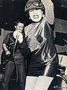 Poly Styrene on stage
