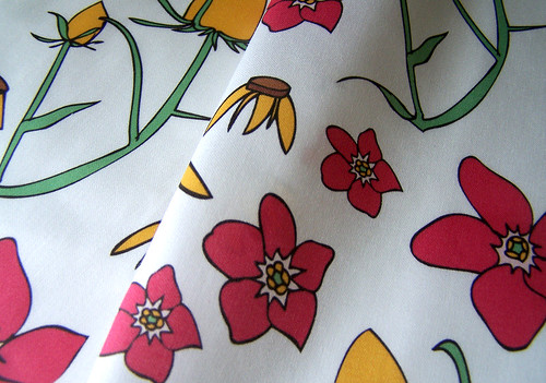 Forget Me Not in Pink Organic Fabric