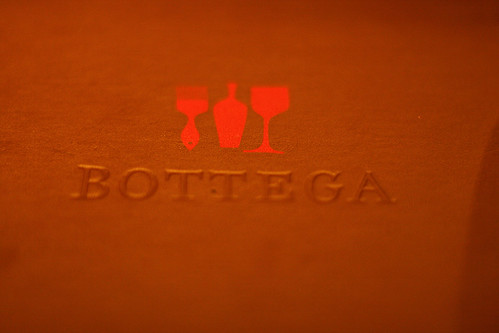 Bottega menu