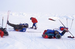 Rest time (Weber Arctic Expeditions) Tags: ice richard misha weber northpole frostbite arcticocean polarexpedition malakhov wardhuntisland fischerskis polarbridge polartraining capearkticheskiy dimitrishparo shparo