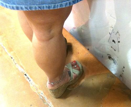 Mature latin feet