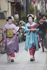 Two Maiko in Miyagawach (Sunjam74) Tags: japan kyoto maiko miyagawach