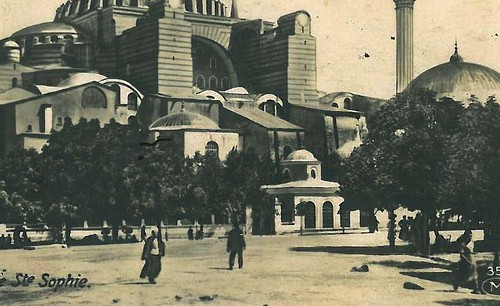 Istanbul, Mosquée Sainte-Sophie, 1920 - détail