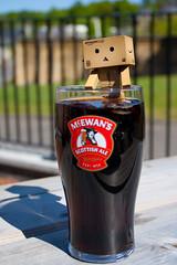 Thirsty (Ed Swift) Tags: canon coke cocacola mcewans danbo 2011 scottishale revoltech danboard 1855mmis 1000d danbosfirstadventure