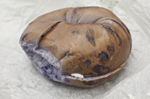 Tour Food: Blueberry Bagel