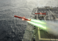 USS Thach launches aerial drone for firing exercise. (Official U.S. Navy Imagery) Tags: brazil navy sailor usnavy guidedmissilefrigate bqm74e atlanticphase aerialdrone ussthachffg43 unitas52 weaponsfiringexercise