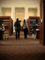The grande library (Sangy23) Tags: people architecture library harvard books lee cassandra pillars harvardlaw