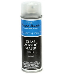 Clear acrylic spray sealant