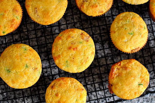 Corn Muffins with Bacon, Cheddar, and Jalapeno