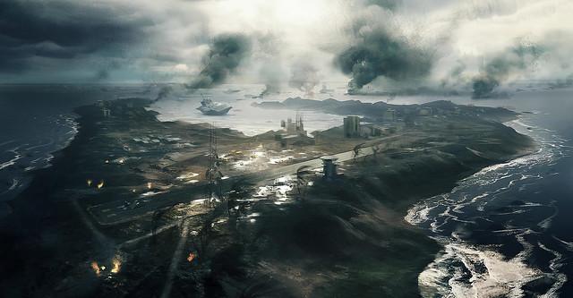 Battlefield 3 Wake Island Concept Art