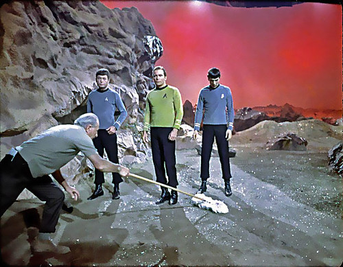 1966 ... 'Star Trek' set tidy