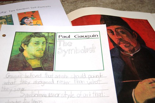 gauguin notebooking page