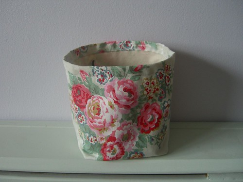 Fabric Storage container by Aunt Angie.