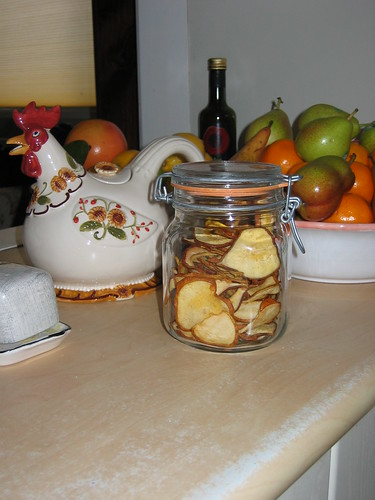 Dried pears in jar