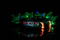 Betty's got a mean streak (Spectral Convergence) Tags: longexposure lightpainting reflection ford lights flames convertible betty mustang lapp greensmoke txpilot txmini r2tx