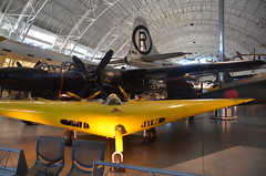 "Steven F. Udvar-Hazy Center: Yellow Northrop N1M flying wing airplane, in front of Northrop P-61C Black Widow and tail of the Boeing B-29 Superfortress ""Enola Gay"", et al (Chris Devers) Tags: japan plane airplane virginia smithsonian dulles unitedstates martin aircraft hiroshima worldwarii va b2 stealthbomber blackwidow boeing fairfax bomber nationalairandspacemuseum atomicbomb dullesairport chantilly enolagay airandspacemuseum worldwartwo udvarhazy b29 superfortress smithsonianinstitution nuclearweapon stevenfudvarhazycenter northrop flyingwing n1m stevenfudvarhazy eyefi b2stealthbomber b2945mo northropn1m b29superfortress p61c exif:exposure_bias=0ev exif:iso_speed=800 exif:exposure=002sec150 exif:focal_length=18mm exif:aperture=f35 northropp61cblackwidow camera:make=nikoncorporation northropaircraft exif:flash=offdidnotfire camera:model=nikond7000 exif:orientation=horizontalnormal exif:vari_program=autoflashoff exif:lens=18200mmf3556 exif:filename=dsc9899jpg exif:shutter_count=11412 meta:exif=1350345819"
