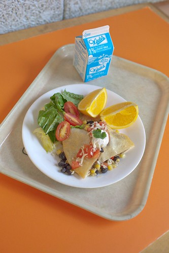 Fiesta Wrap. Charter Oak International Academy is a finalist in the Recipes for Healthy Kids competition.