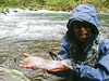 Bob with dry fly McCloud River trophy 'bow