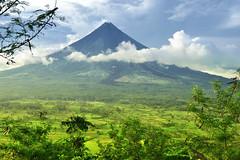 Mayon Volcano (Herbert Flor) Tags: blue sky mountain green clouds volcano nikon mayon mtmayon phlippines legazpi mayonvolcano legazpicity