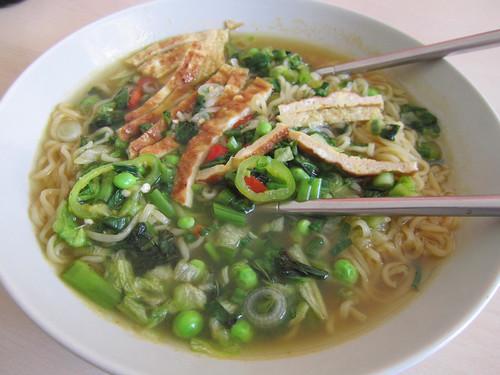 "Cooked: Mendake: ""Oriental style noodles"" with Bao Long ""Bun Oc seasoning"""