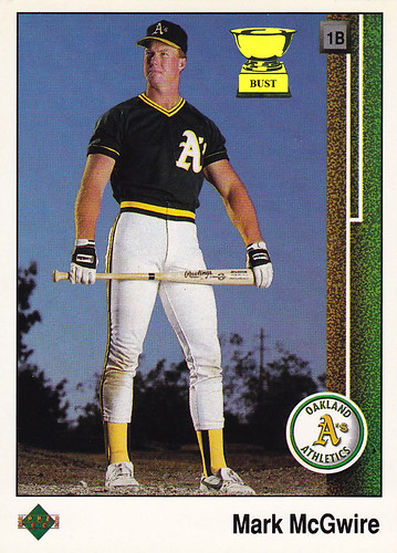 Baseball Card Bust Mark Mcgwire 1989 Upper Deck