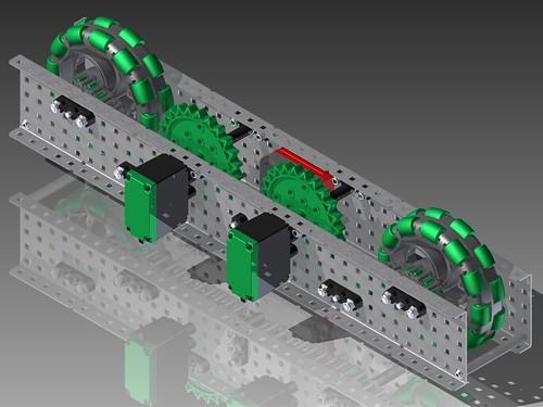 VEX CAD Gateway Drivetrain Half2