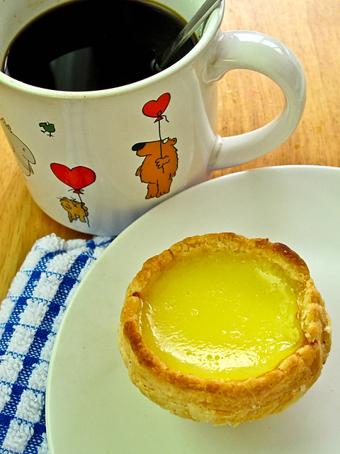 IMG_0851 Egg tart and coffee , 咖啡和蛋挞