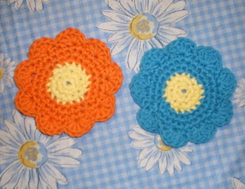 Mom's Daisy Coasters
