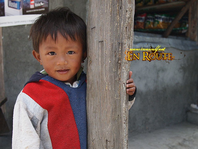 This nice kid greeting us as we got off the bus at the Highest Point