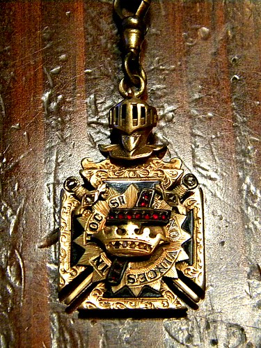 Freemasons/Knights Templar Watch Chain Front