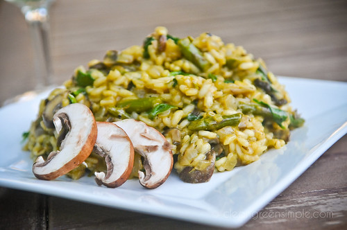 Asparagus Mushroom Risotto Recipe